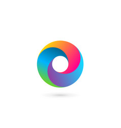 abstract business logo icon design with letter o vector image