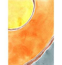 abstract yellow orange and grey color watercolor vector image