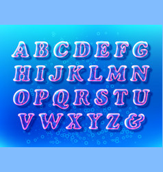Air bubble font vector