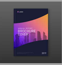 Annual report brochure cover design layout vector