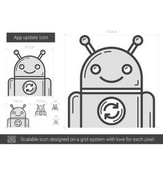 App update line icon vector
