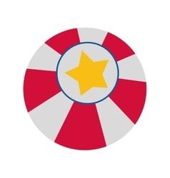 Ball icon Circus and carnival design vector