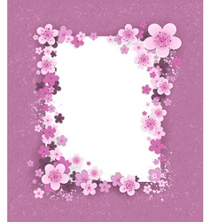 Banner with Sakura Flowers vector image