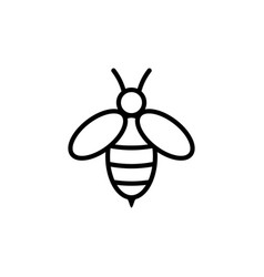 bee logo design vector image