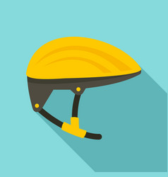 bike helmet icon flat style vector image