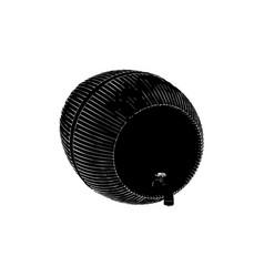 black barrel on white background vector image