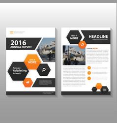 Black orange annual report Leaflet Brochure vector image