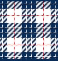 blue tartan plaid seamless pattern vector image