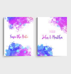 bright colors wedding set with beautiful hand vector image