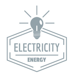 bulb logo simple gray style vector image