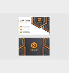 business card with black and white background vector image