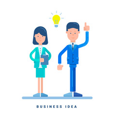 Businesswoman and businessman standing business vector