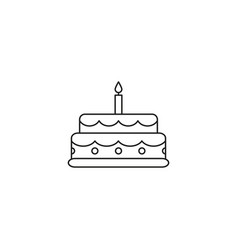 cake celebration icon vector image
