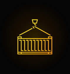 cargo container yellow icon or sign vector image
