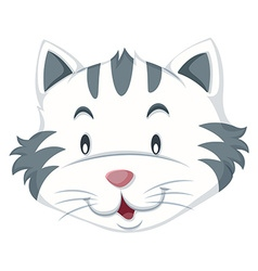 Cat with gray and white fur vector image