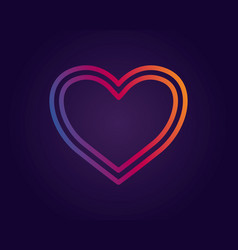 colorful heart logo vector image