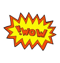 Comic cartoon wow explosion vector