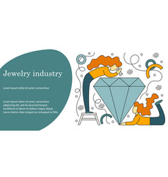 Concept of jewelry industry vector