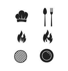 cooking icon template vector image