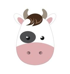 cow animal cartoon vector image