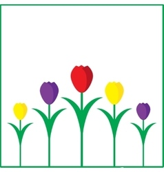 Creative hand-drawn tulips vector