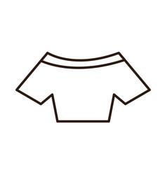 Crop top fashion textile women clothes line icon vector