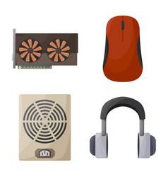 Design computer and hardware icon vector