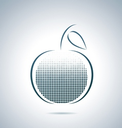 Digital apple vector