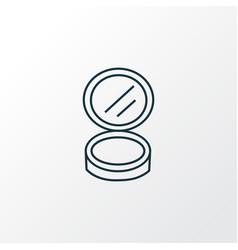 face powder icon line symbol premium quality vector image