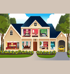 Family at home vector
