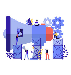 flat design business vector image