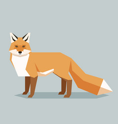 flat geometric fox vector image