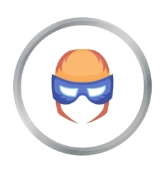 Full head mask icon in cartoon style isolated on vector