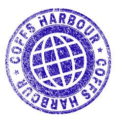 Grunge textured coffs harbour stamp seal vector