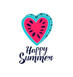 happy summer day logo creative template vector image