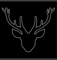 head deer the white path icon vector image