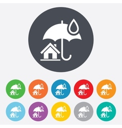 Home insurance sign icon Real estate insurance vector image