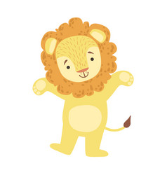 Lion cute toy animal with detailed elements part vector