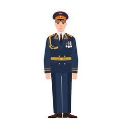 military man russian armed force wearing full vector image