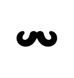 mustache icon design template isolated vector image