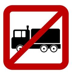 No cargo car sign vector image
