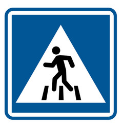 No walk icon access for pedestrians prohibition vector