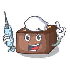 nurse character homemade delicious fresh almonds vector image