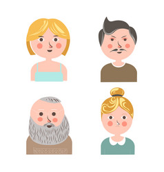 People face avatars for applications or web vector