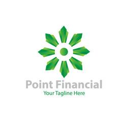 point financial logo designs vector image