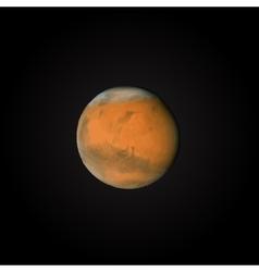 Realistic planet Mars vector