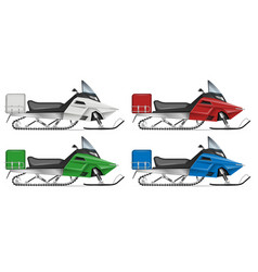 realistic snowmobile vector image