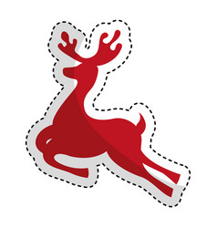 Reindeer silhouette isolated icon vector