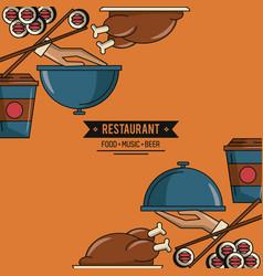 Restaurant food concept vector