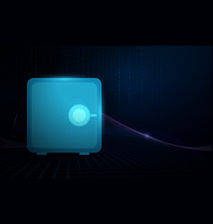 safe box and safety digital concept background vector image